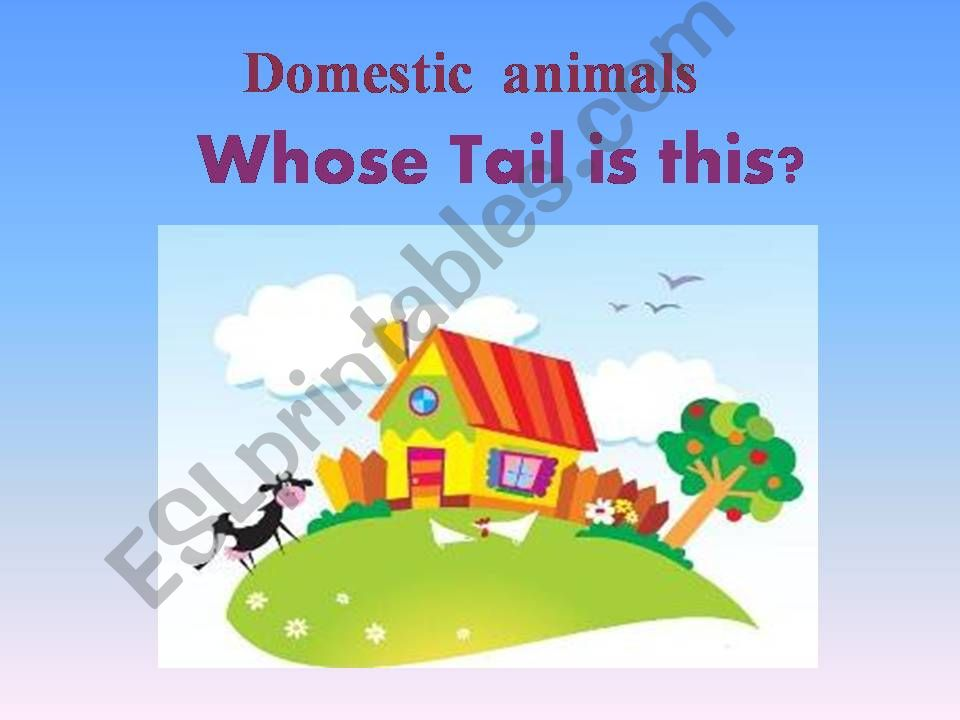 Whose tail is that ? powerpoint
