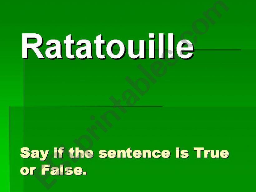 Watching Movies: Ratatouille powerpoint