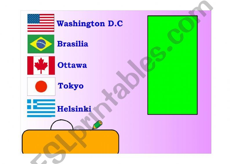 countries and capitals powerpoint