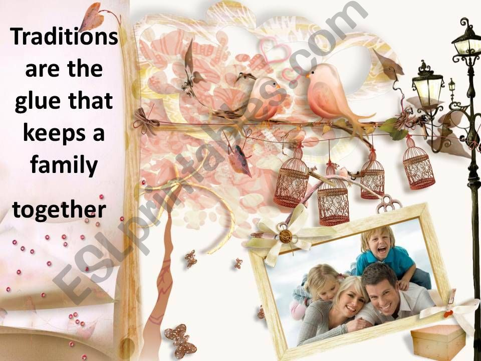 10 family traditions powerpoint