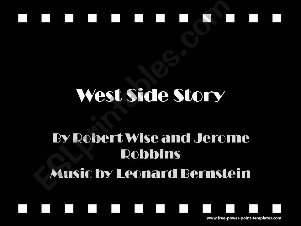 West Side Story powerpoint