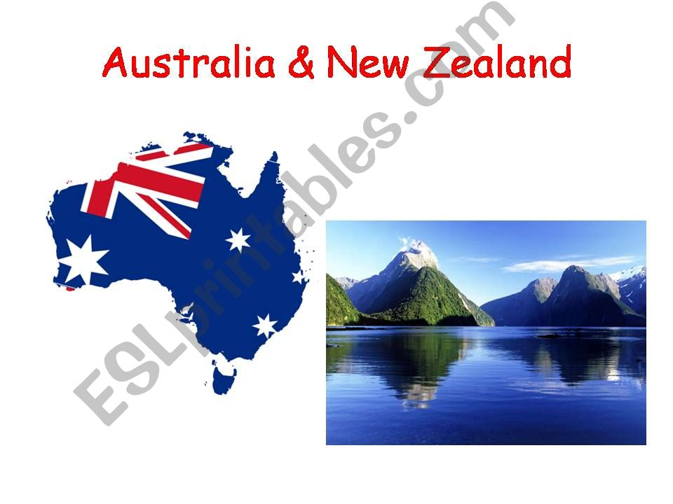 Australia and New Zealand powerpoint