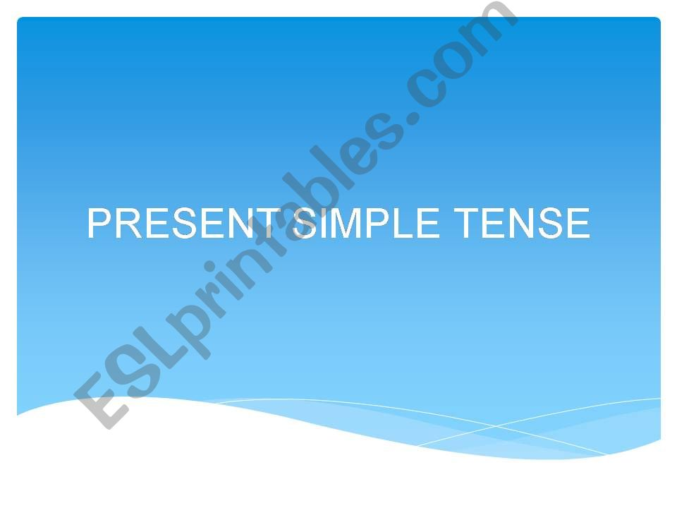 PRESENT SIMPLE CLASS powerpoint