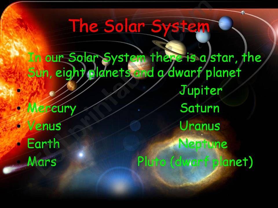 The Solar System: Mars and Venus