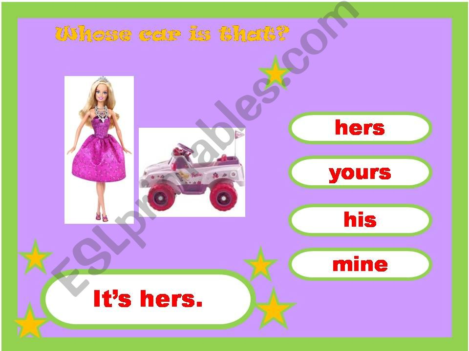 Mine, Yours, His, Her Game 3/4