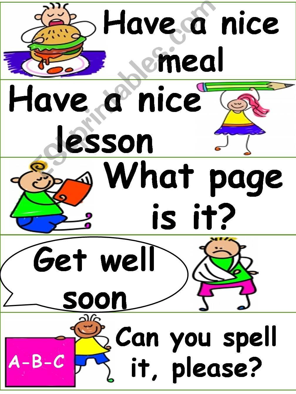 Classroom Language powerpoint