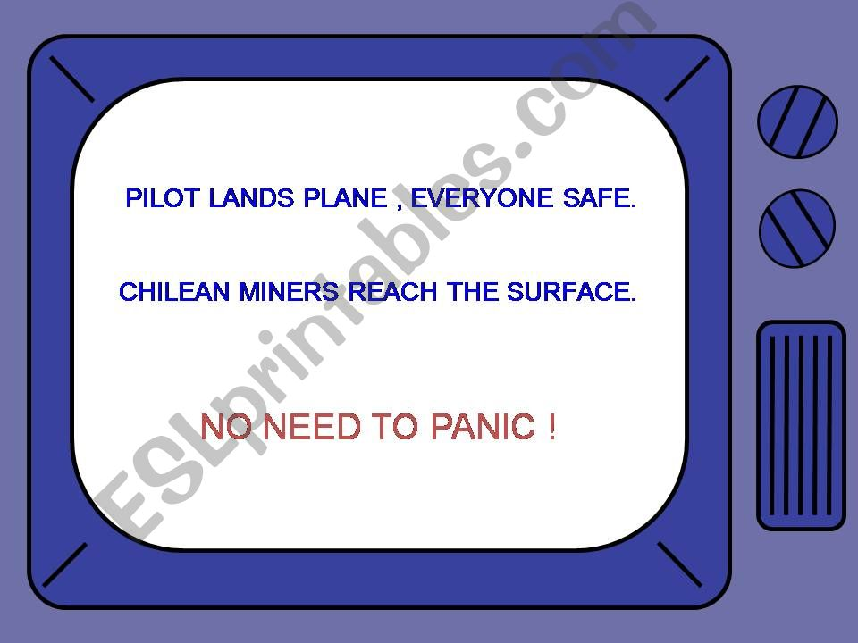 NO NEED TO PANIC powerpoint