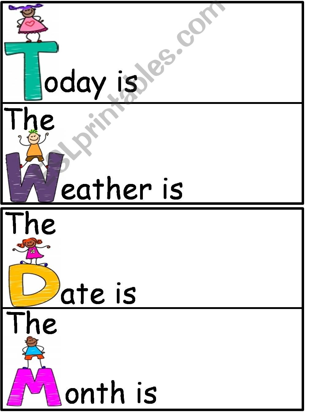 Weather Chart and Calender powerpoint