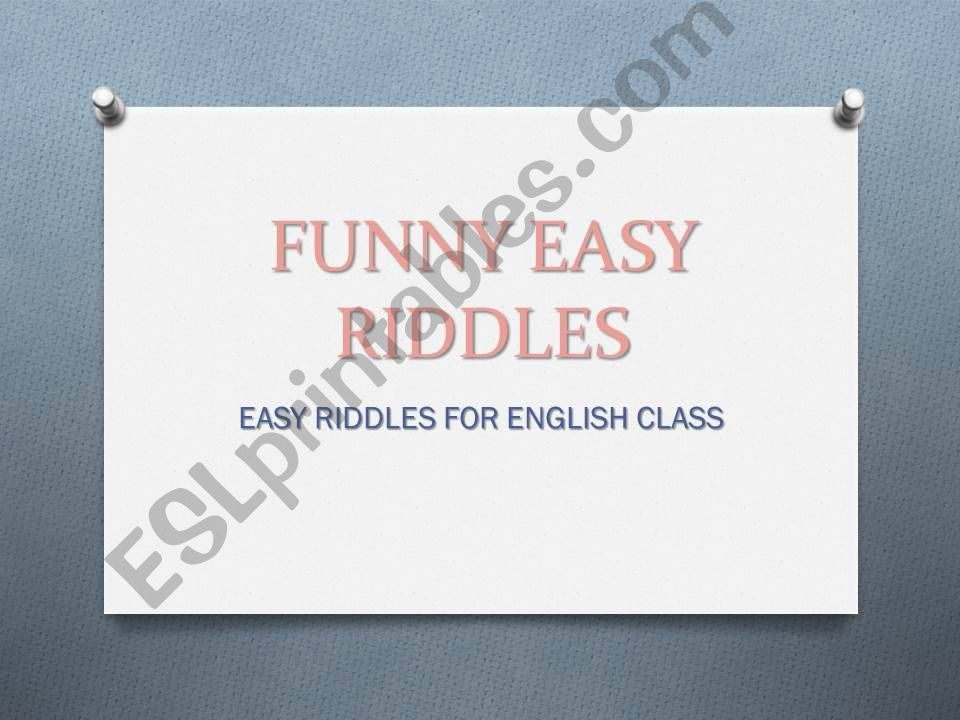 Funny easy riddles powerpoint