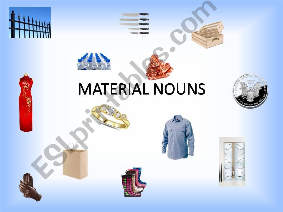 MATERIAL NOUNS powerpoint