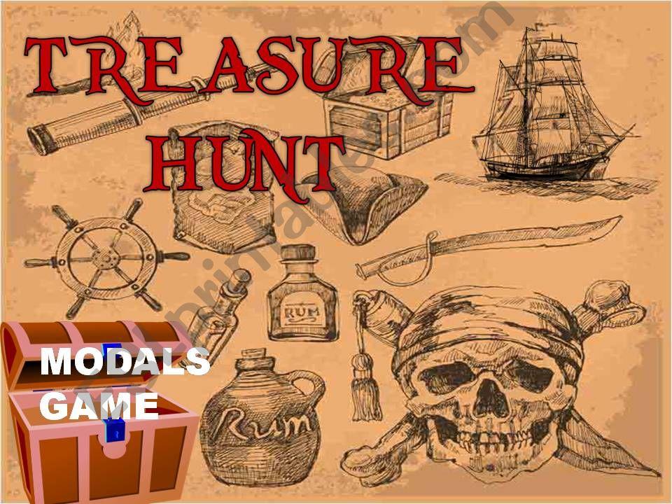 Modals game- treasure hunt game