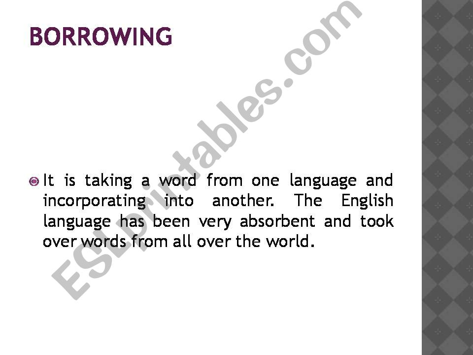 ESL - English PowerPoints: Word formation processes