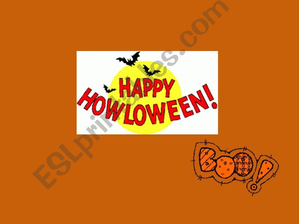 simple halloween vocabulary powerpoint