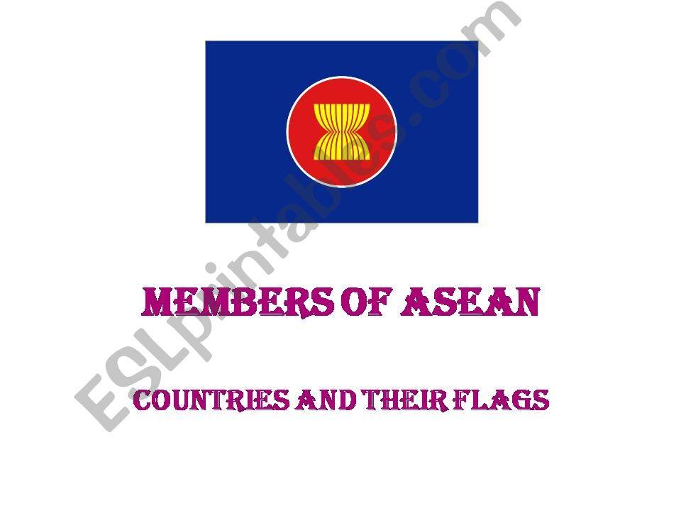 ASEAN Flags powerpoint
