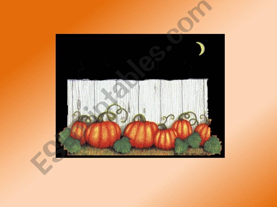 Halloween vocabulary and song powerpoint