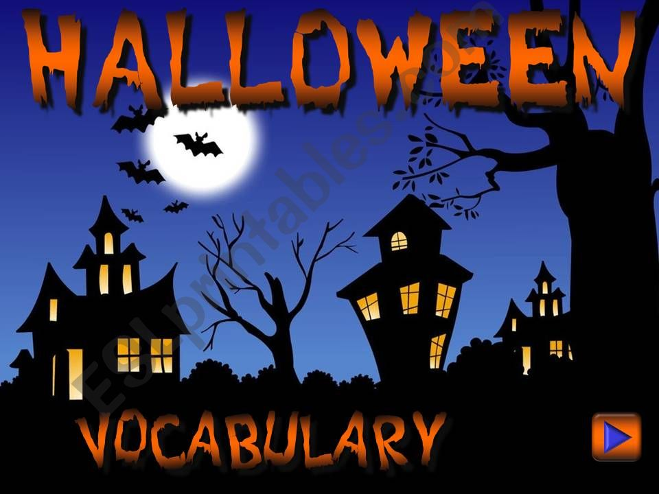 Halloween - vocabulary *with sounds* (1/2)