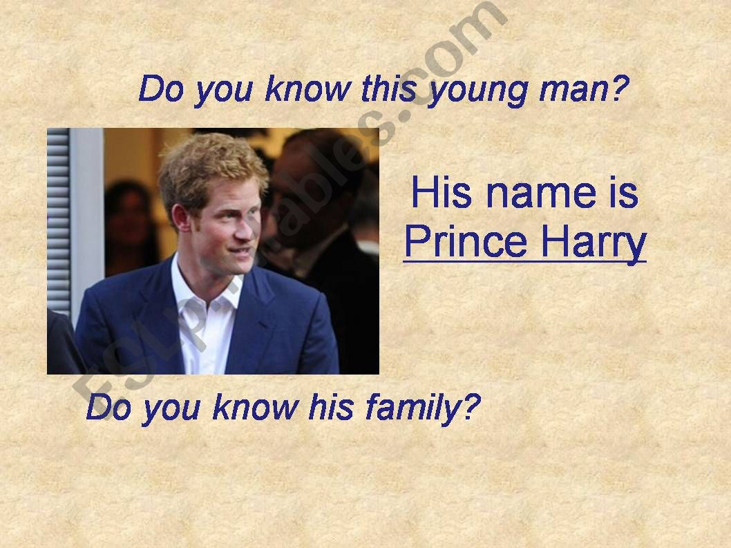Harry´s royal family (have got)