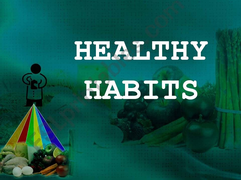 Rules for a healthy lifestyle powerpoint