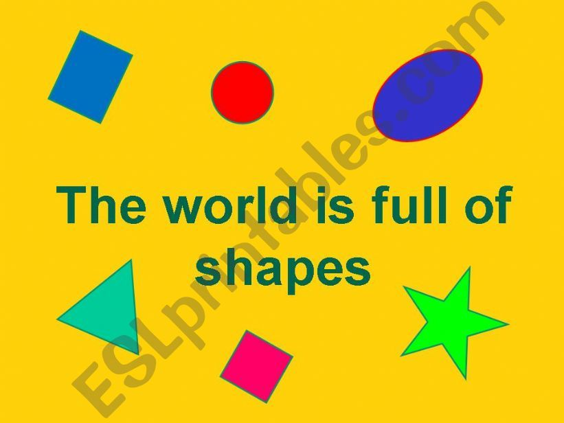 The world is full of shapes powerpoint