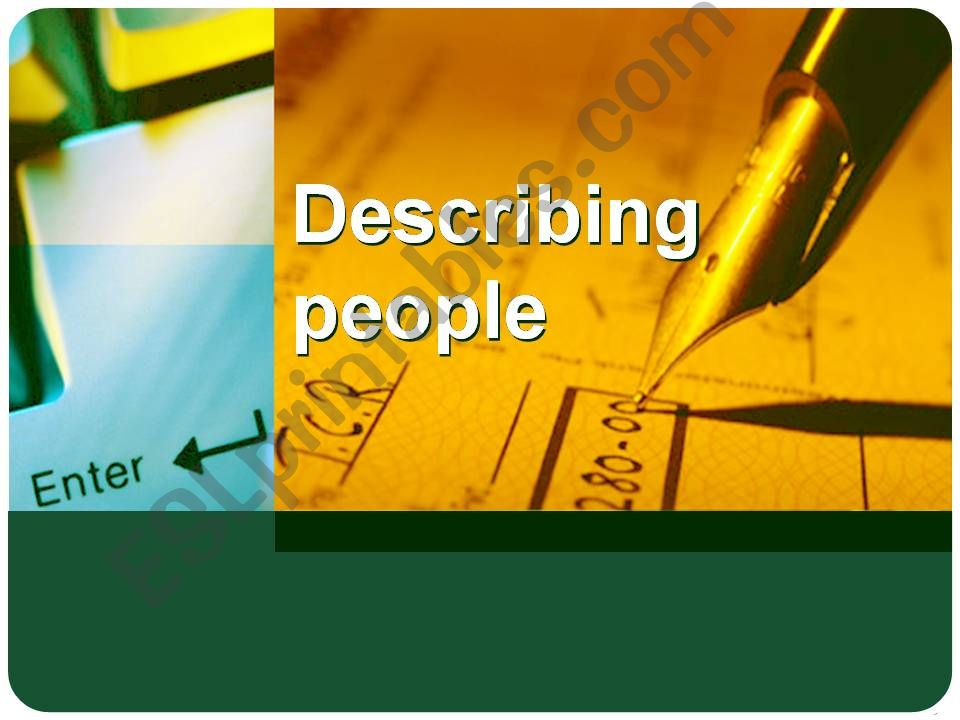 Describing people powerpoint