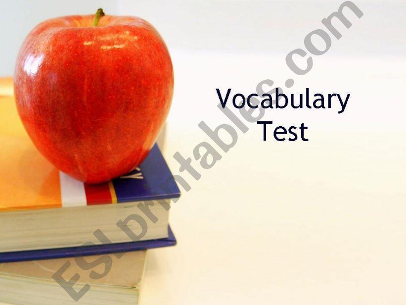 Vocabulary Test powerpoint