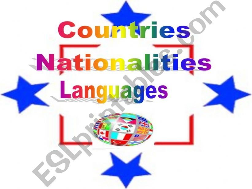 Countries/nationalities/languages