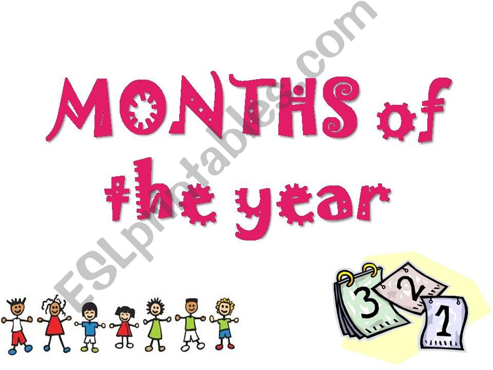 MONTHS OF THE YEAR powerpoint