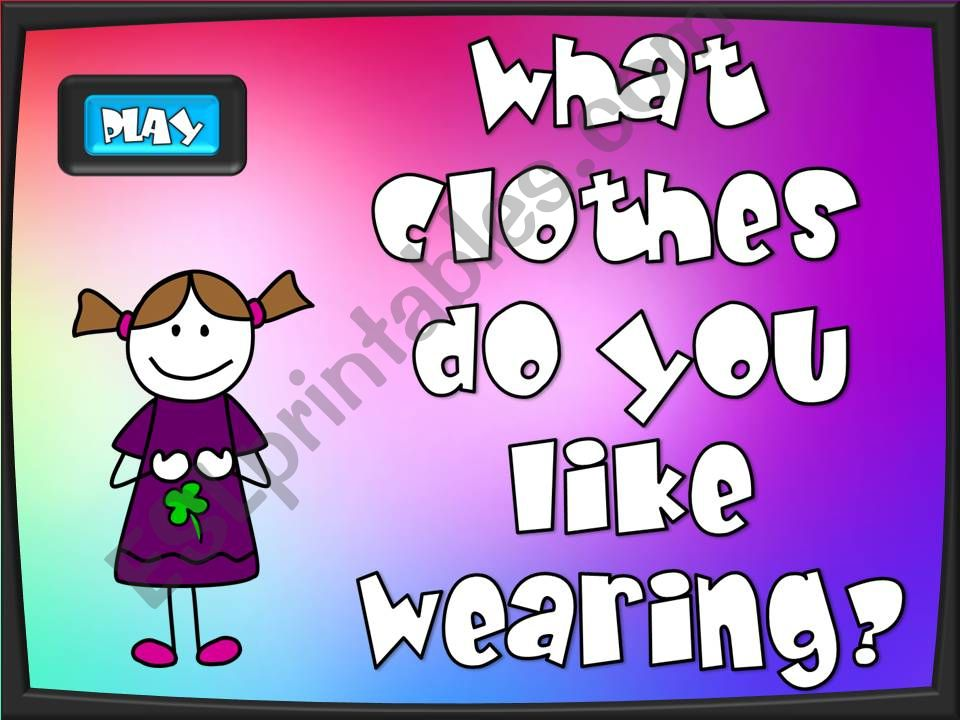 What do you like wearing? - game (1/2)