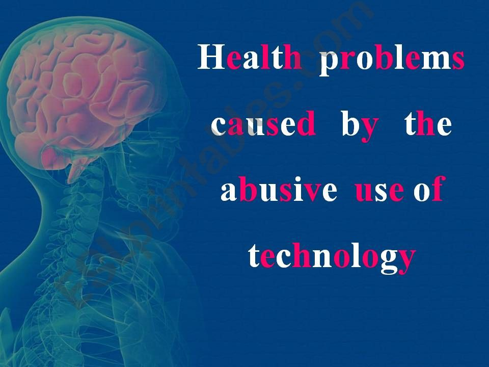 Health problems caused by the abusive use of some technological devices