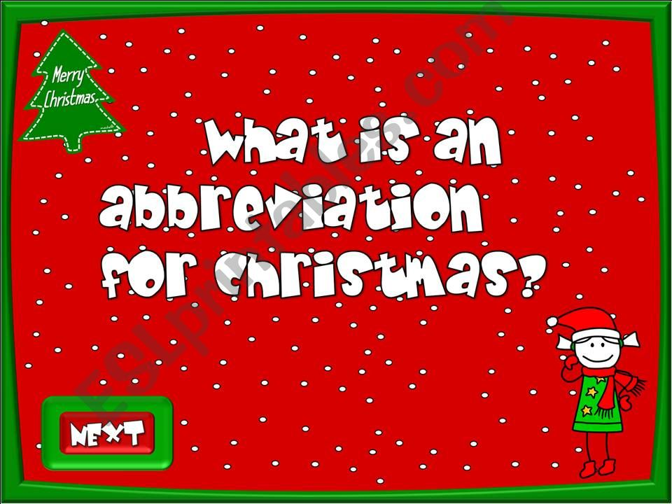 Christmas time - quiz (4/4) powerpoint