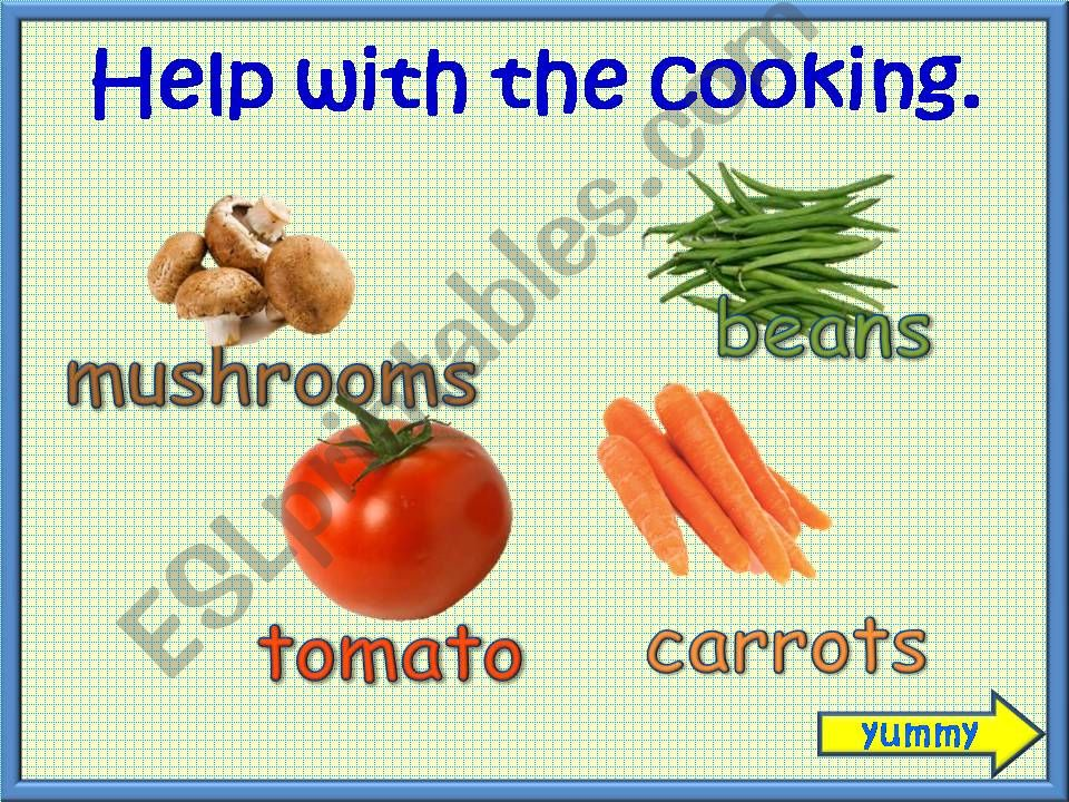 Help With The Cooking powerpoint