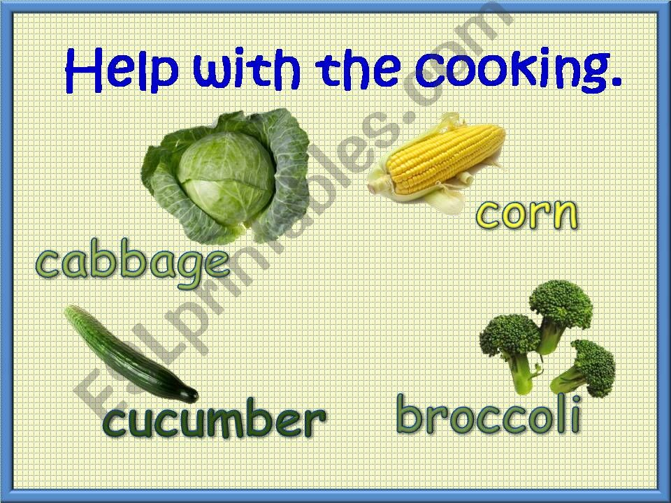 Help With The Cooking 3/3 powerpoint