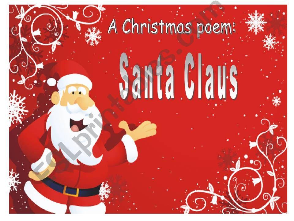 a Christmas poem: Santa Claus!