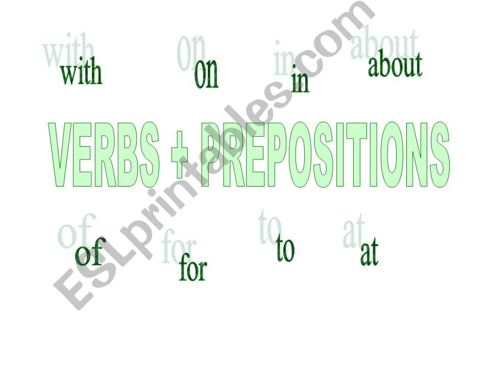 Verbs and prepositions powerpoint