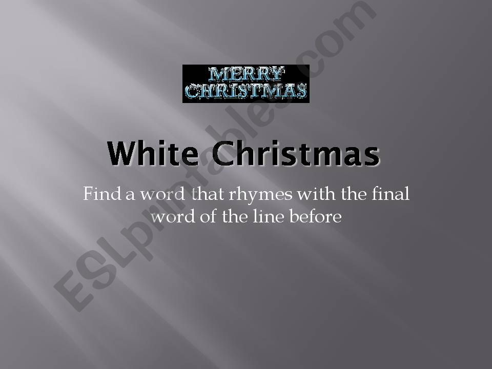 Christmas song contest powerpoint