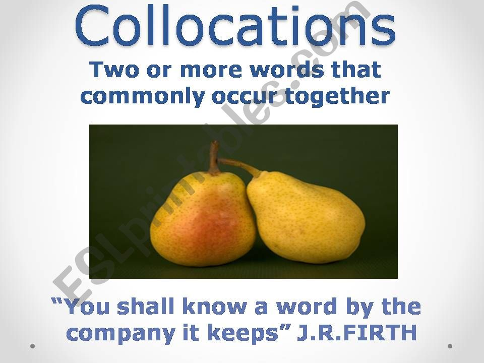 Collocations powerpoint