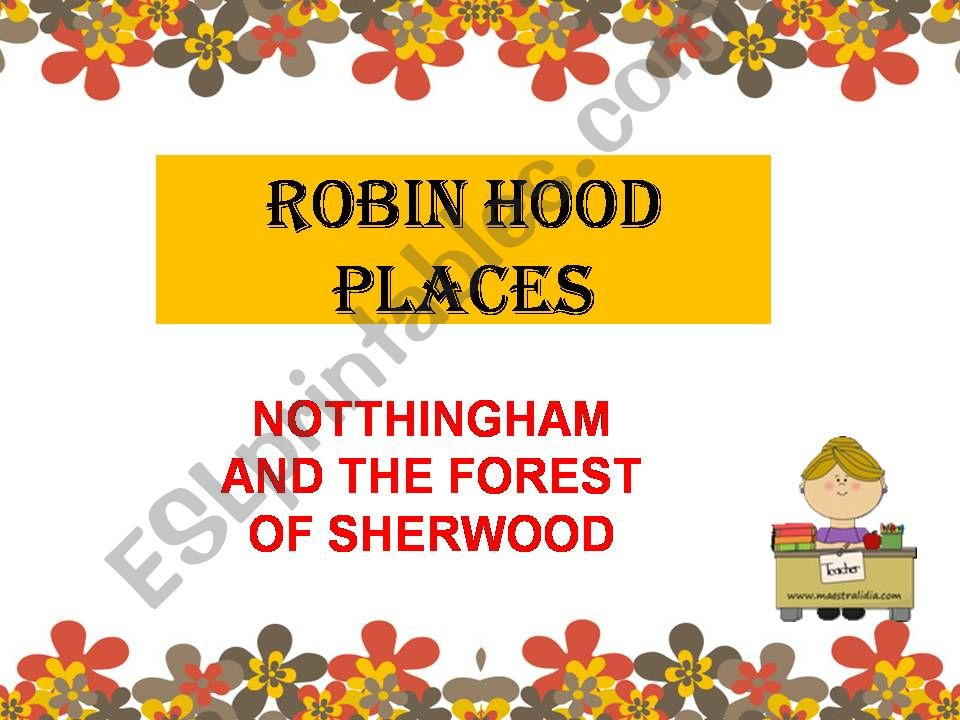 rOBIN hOOD PLACES powerpoint
