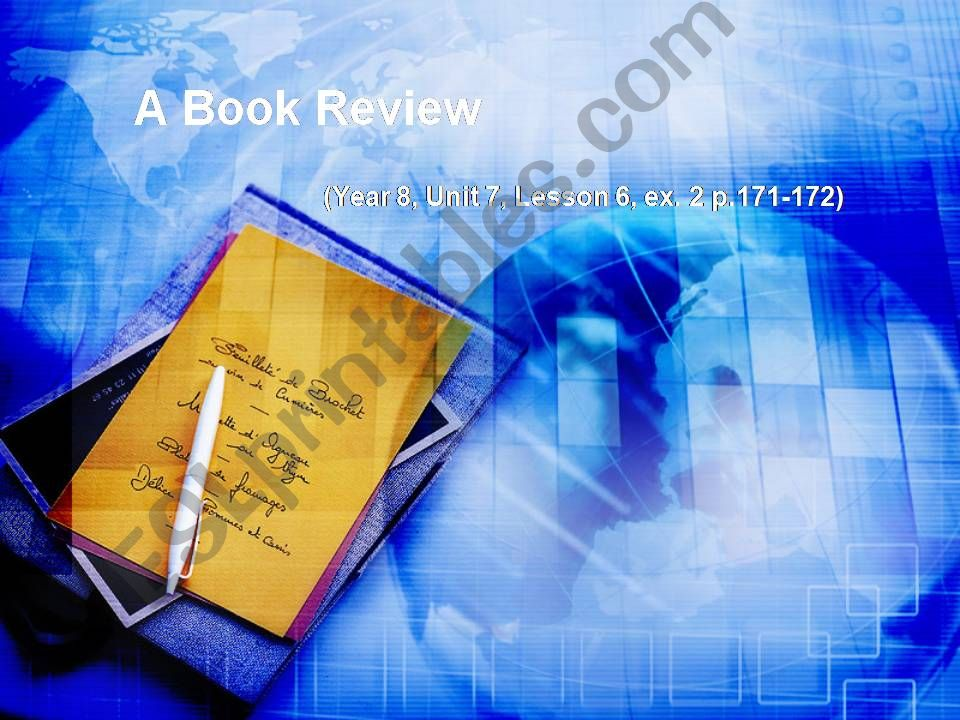 A Book Review (how to write it)