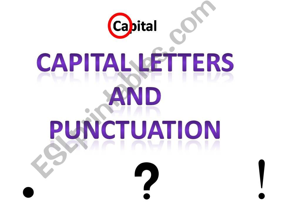 Capital Letters and Punctuation