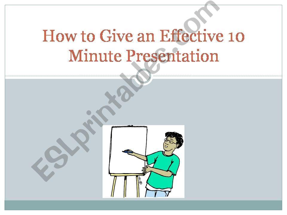 10-Minute Presentation powerpoint