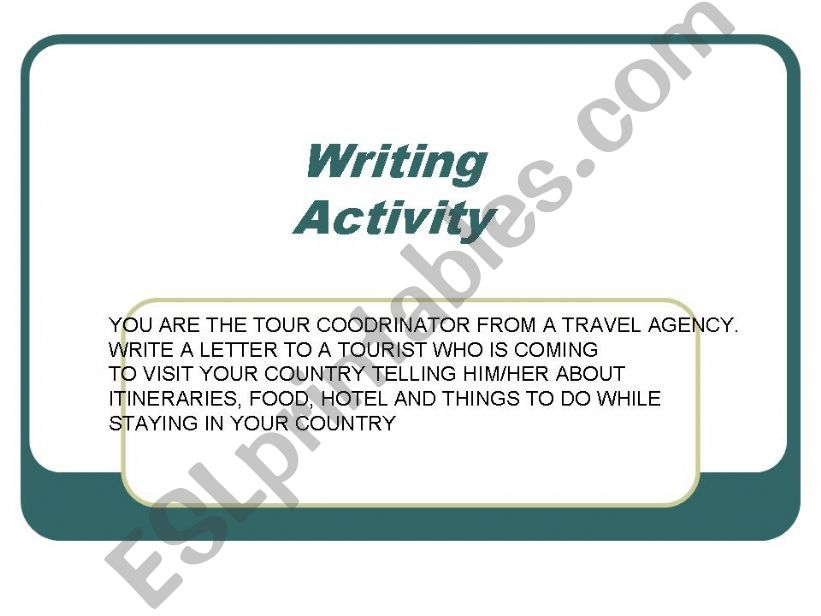 writing practice powerpoint