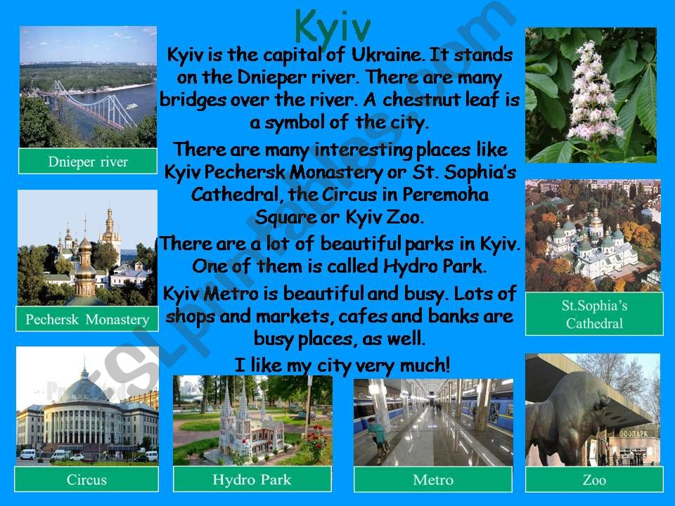 Kyiv - the capital of Ukraine powerpoint