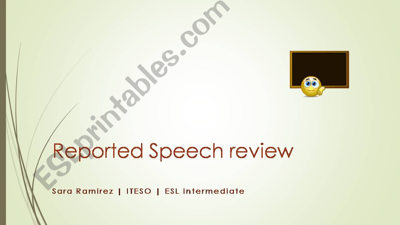 Reported Speech Review powerpoint