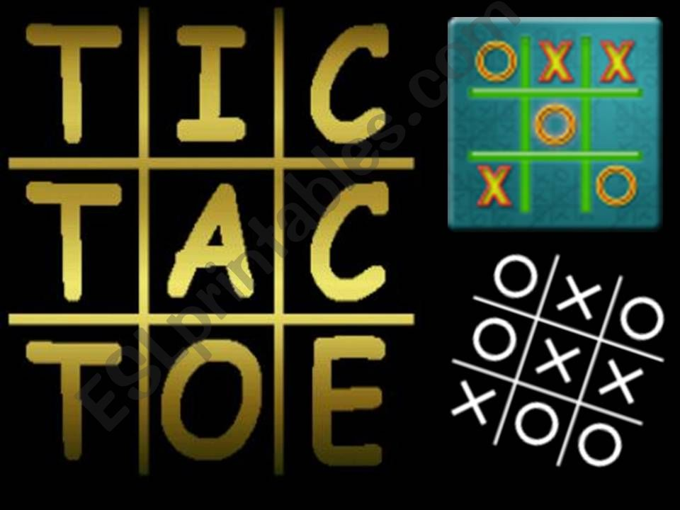 TIC TAC TOE - SIMPLE PAST powerpoint