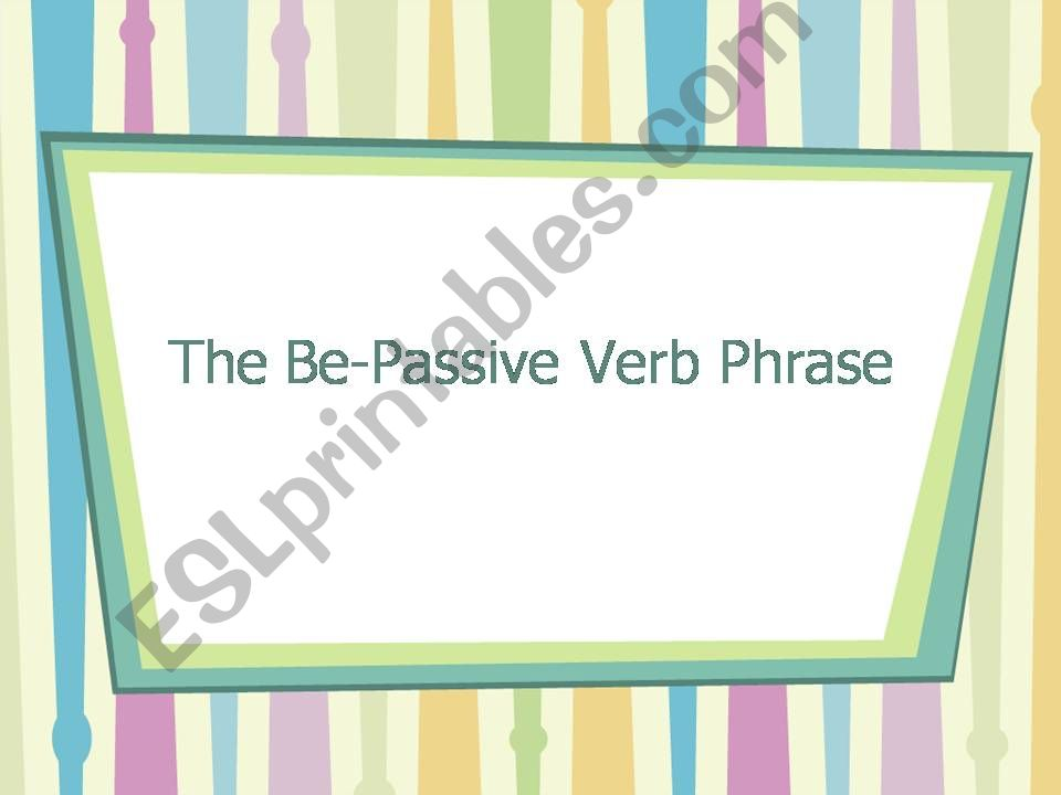 Passive voice with present simple and past simple