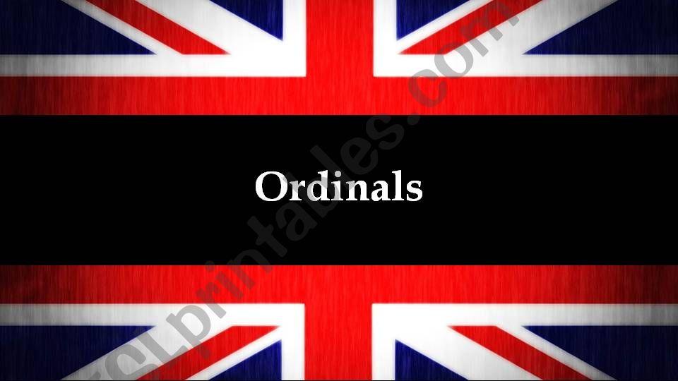 Ordinals powerpoint