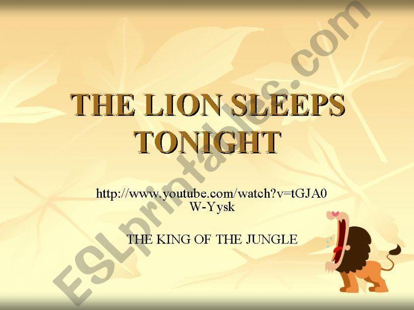 THE LION SLEEPS TONIGHT powerpoint