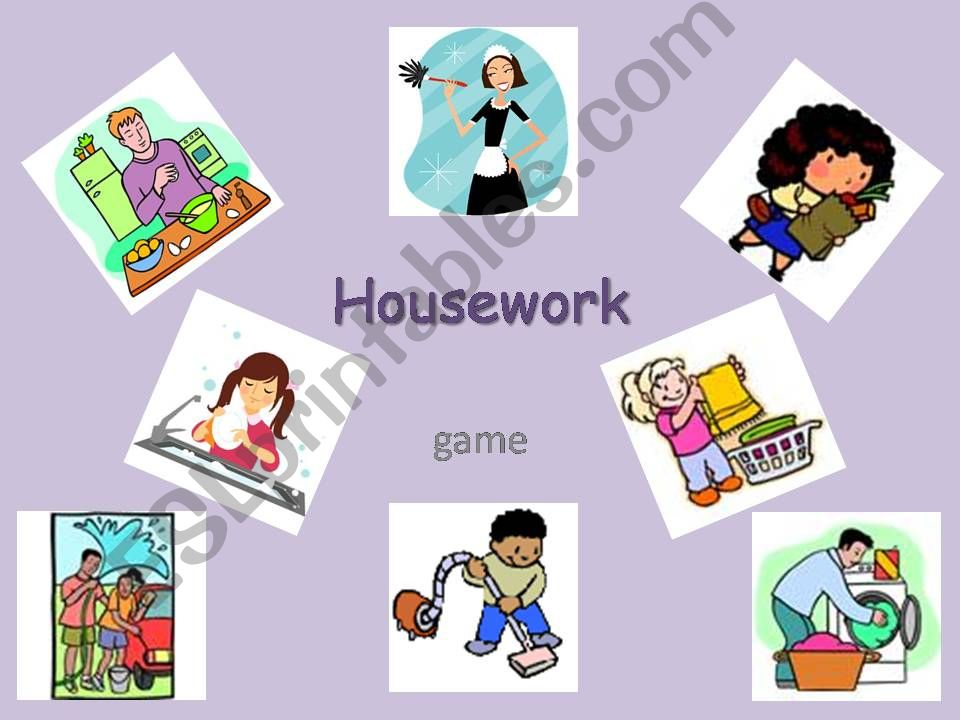 Housework - game powerpoint