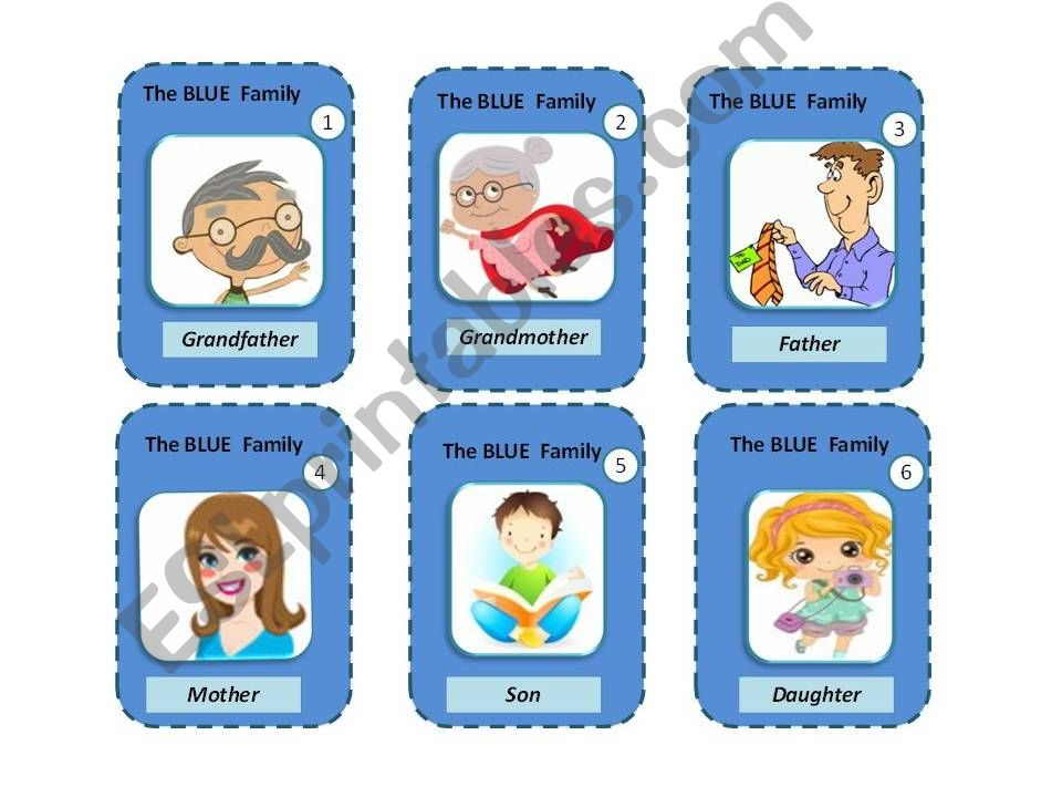 FAMILY MEMBERS - HAPPY FAMILY GAME
