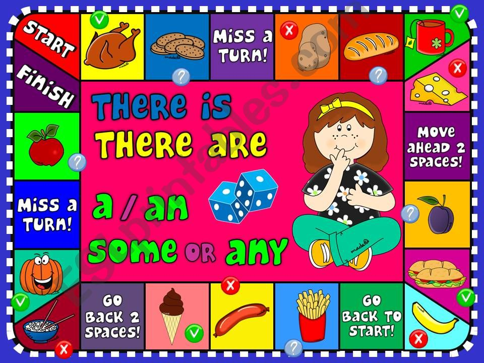 There is / There are - boardgame
